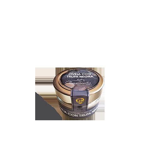 Crema de queso de Oncala con trufa negra