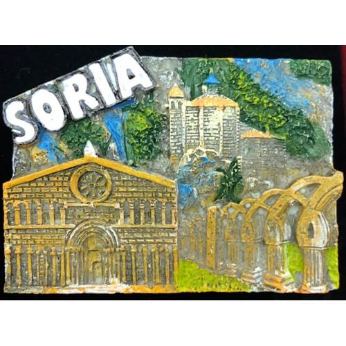 IMAN RESINA MONUMENTOS DE SORIA. RELIEVE