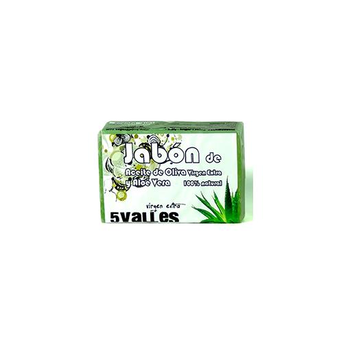 JABON DE ACEITE DE OLIVA VIRGEN EXTRA Y ALOE VERA