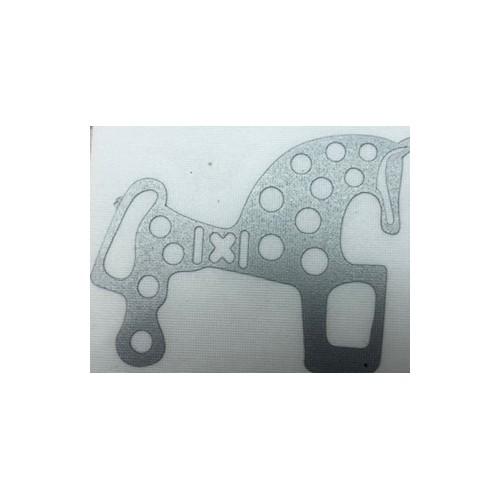 PEGATINA VINILO CABALLO SORIA  PLATEADO 4,5 X 3,5 CM