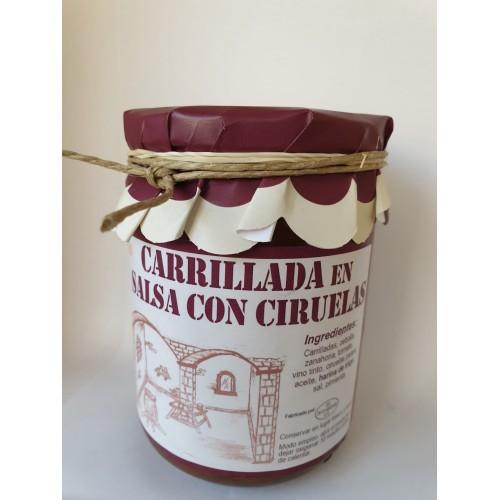 Carrillada en salsa con ciruelas. 420 gr