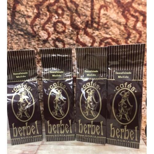 Café Herbel Descafeinado molido. Pack 4 x 250 gr