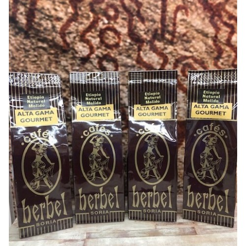 Café Herbel Gourmet Natural Etiopía molido. Pack 4 x 250 gr