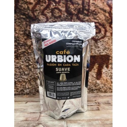 Café Urbión suave. 20 cápsulas