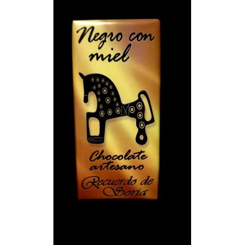 Chocolate negro con miel  125 gr
