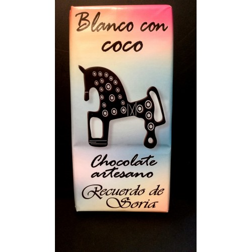 Chocolate blanco con coco