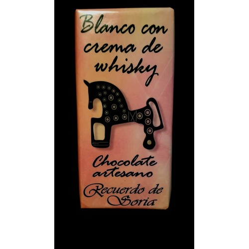 Chocolate blanco con crema de whisky