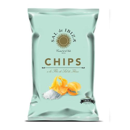 Patatas chips sal de Ibiza. Bolsa 125 gr