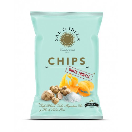 Patatas chips sal de Ibiza con trufa blanca. Bolsa 125 gr