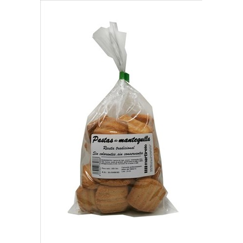 Pastas de mantequilla Martirelo. Blister 220 gr
