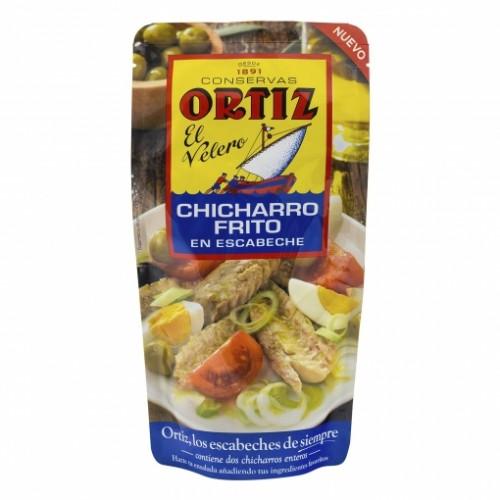 Chicharro frito en escabeche Ortiz. 2 unidades