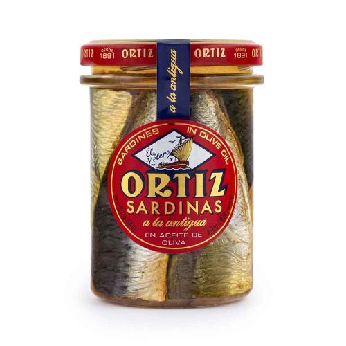Sardina a la antigua Ortiz. Tarro cristal 190 gr