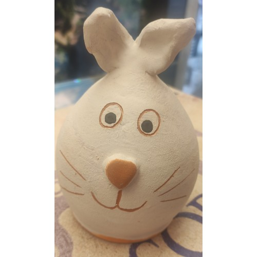 Hucha conejo de cerámica artesanal