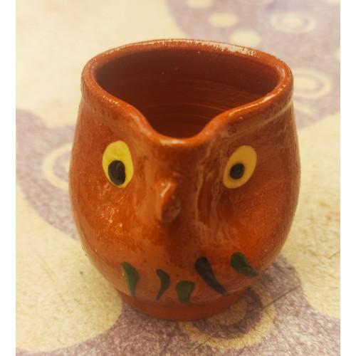 Palillero búho cerámica