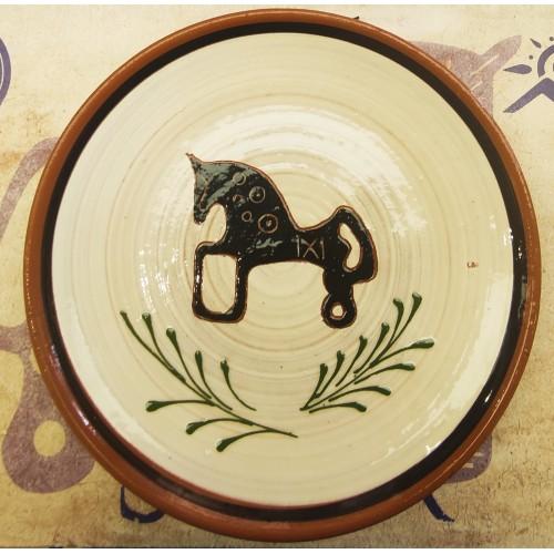 Plato cerámica artesanal decorado