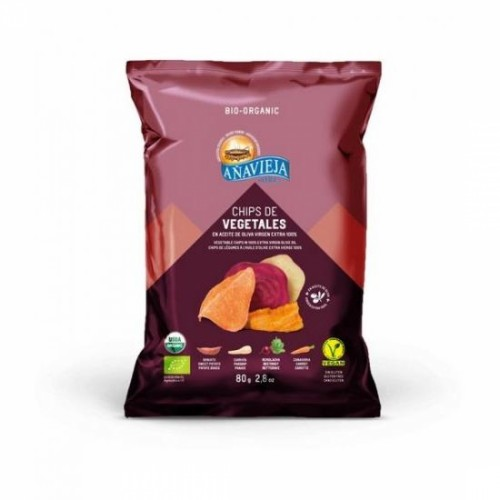 Chips vegetales en AOVE Añavieja. Bolsa 80 gr.