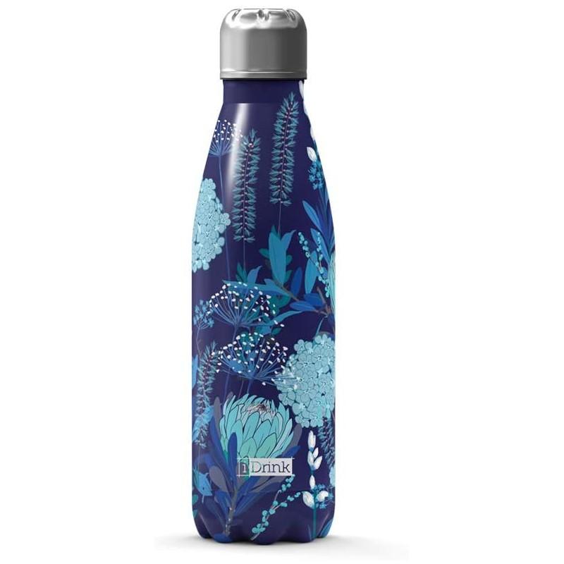 Botella térmica flores azules 500 ml
