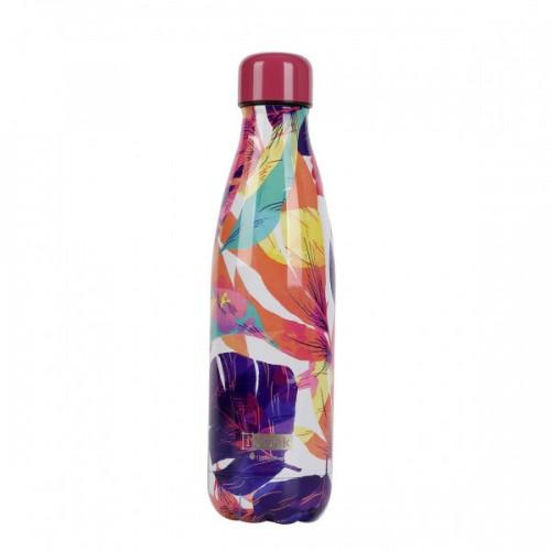 Botella térmica hojas colores 500 ml