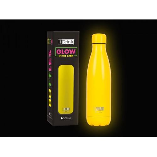 Botella térmica brillante en la oscuridad amarilla 500 ml