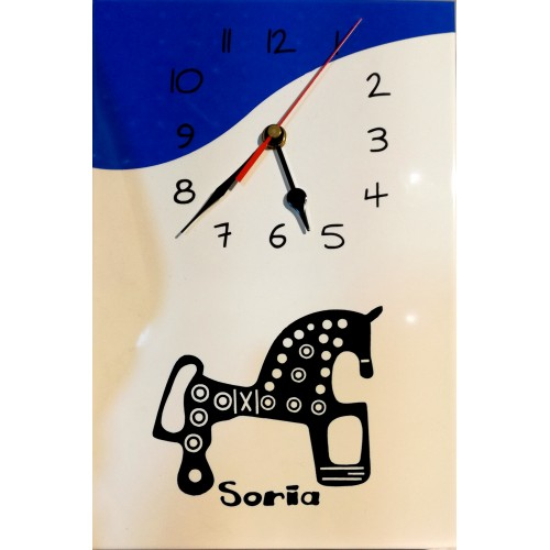 Reloj baldosa caballo