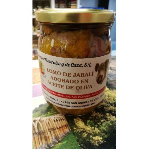 Lomo de jabalí adobado en aceite de oliva