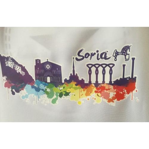 Delantal blanco con detalle splash de Soria